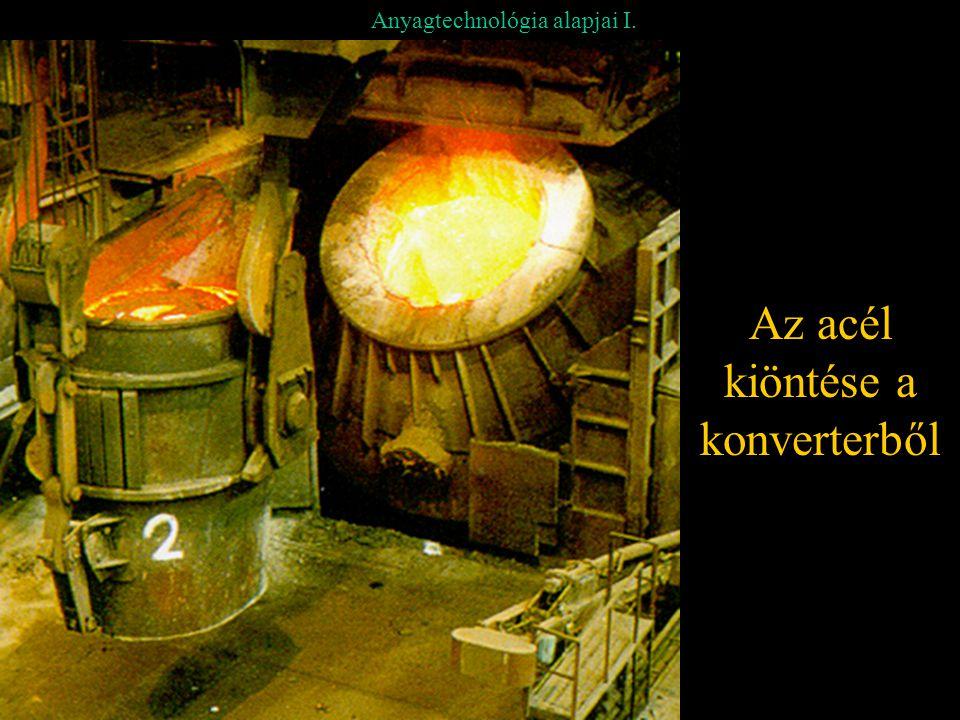 Anyagtechnológia alapjai I. Az acél kiöntése a konverterből