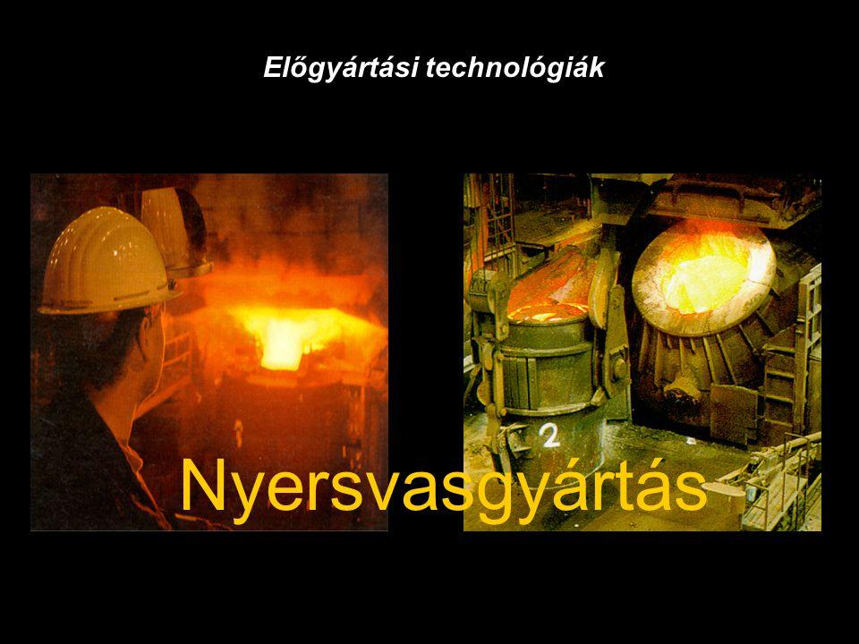 Nyersvasgyártás Előgyártási technológiák
