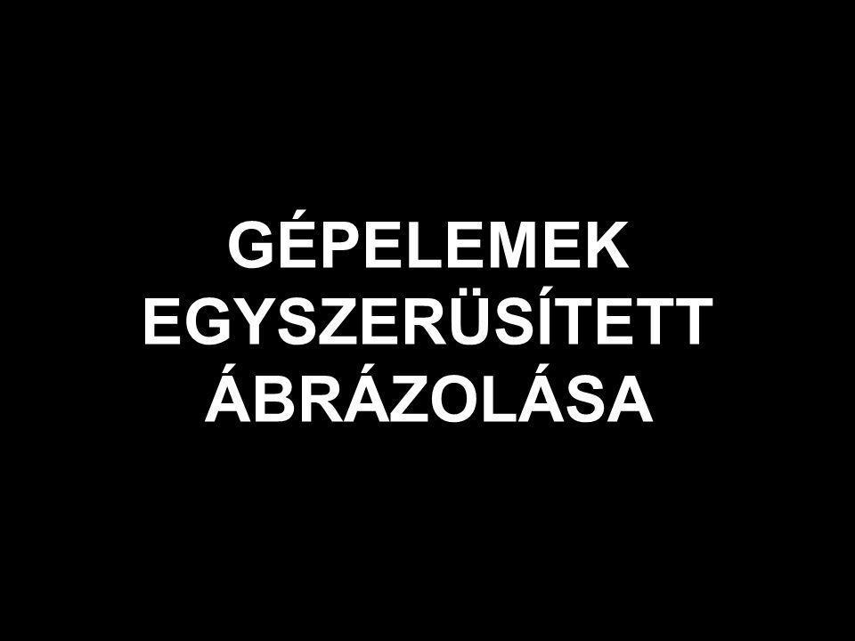 GÉPELEMEK EGYSZERÜSÍTETT ÁBRÁZOLÁSA