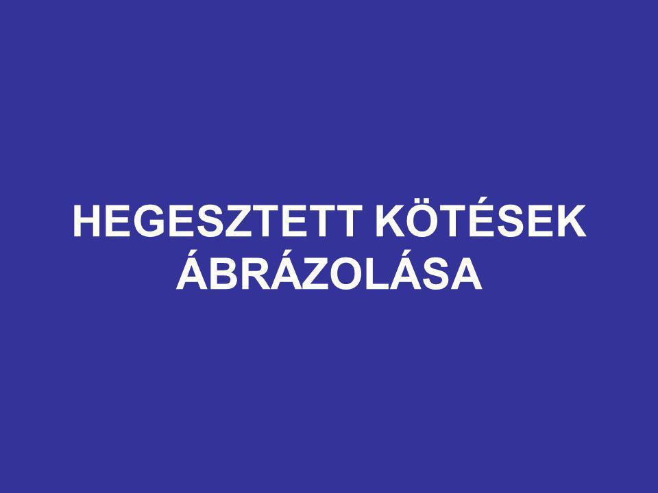 HEGESZTETT KÖTÉSEK ÁBRÁZOLÁSA