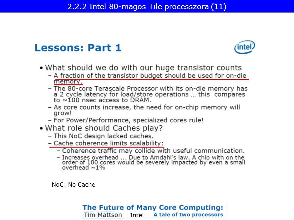 Intel NoC: No Cache 2.2.2 Intel 80-magos Tile processzora (11)