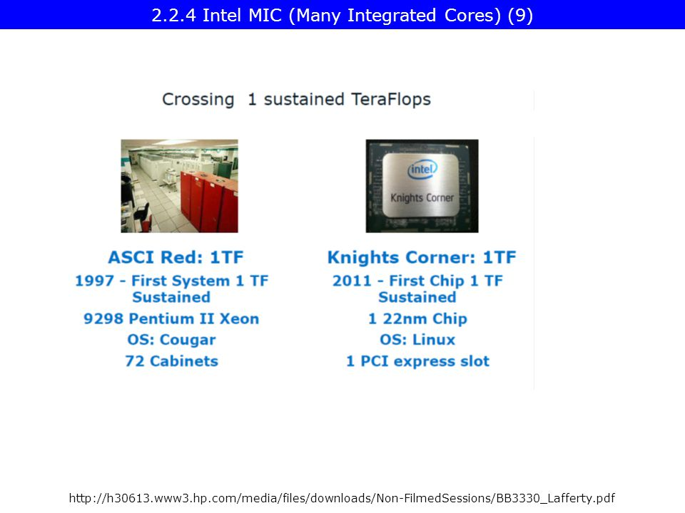http://h30613.www3.hp.com/media/files/downloads/Non-FilmedSessions/BB3330_Lafferty.pdf 2.2.4 Intel MIC (Many Integrated Cores) (9)