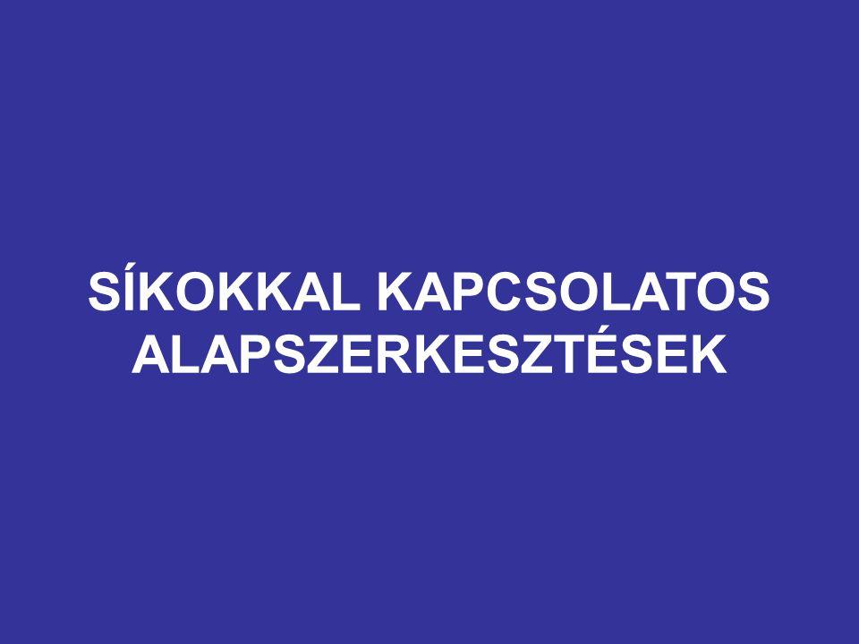 SÍKOKKAL KAPCSOLATOS ALAPSZERKESZTÉSEK