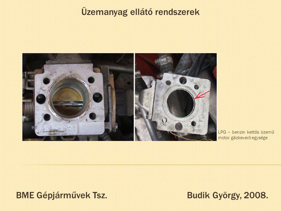 Üzemanyag ellátó rendszerek BME Gépjárművek Tsz. Budik György, 2008. LPG – benzin kettős üzemű motor gázkeverő egysége