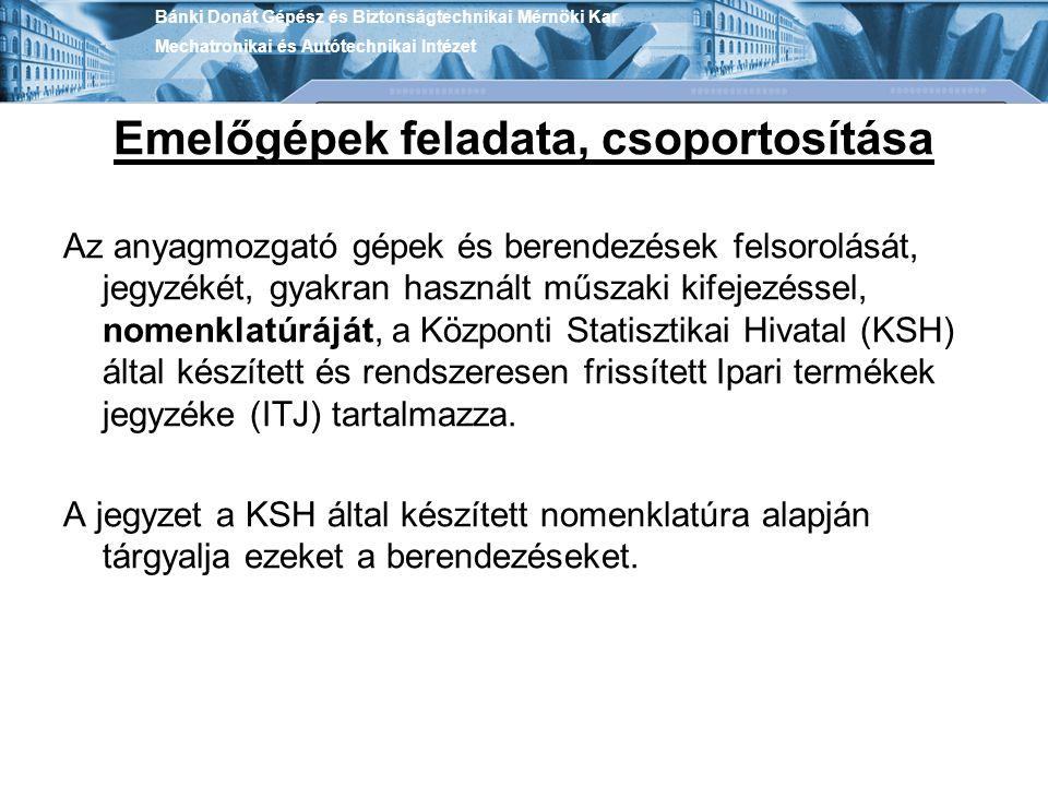Bánki Donát Gépész és Biztonságtechnikai Mérnöki Kar Mechatronikai és Autótechnikai Intézet Törőművi daru.