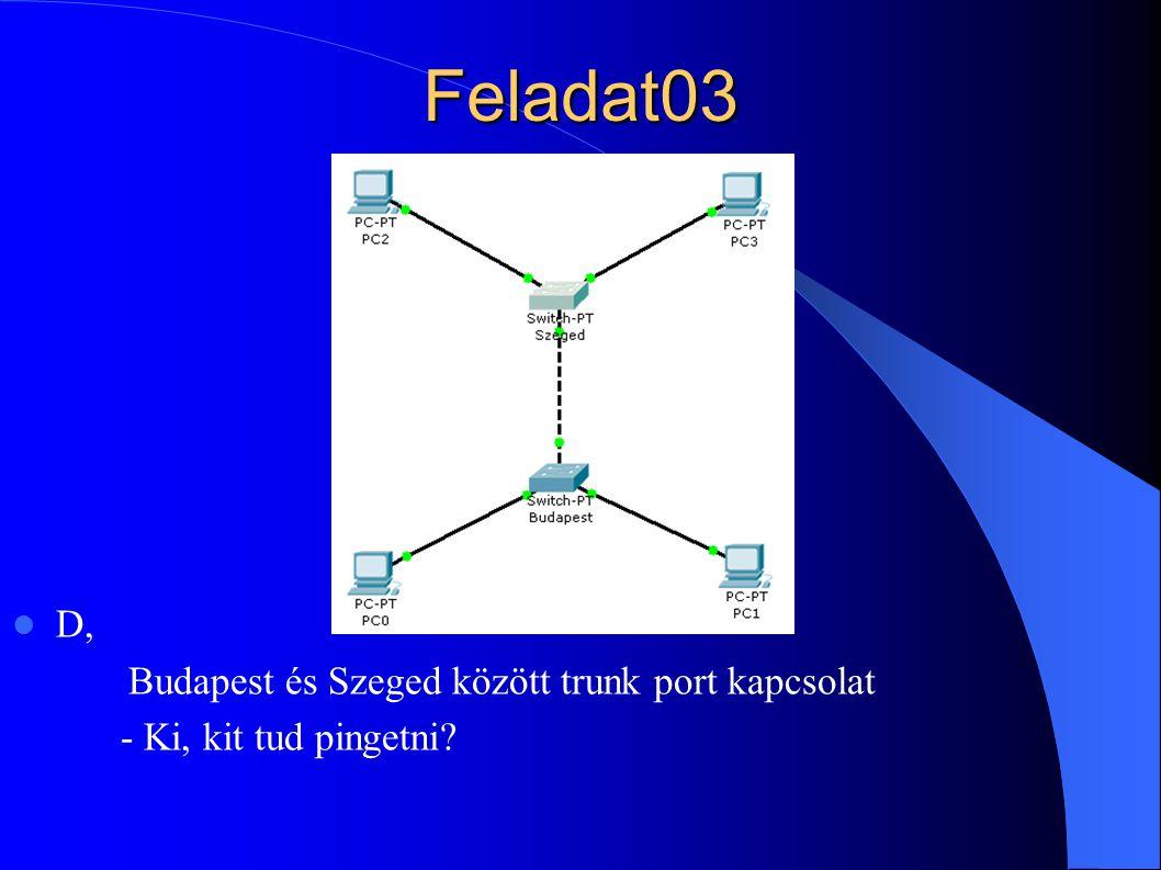 Feladat03 D, Budapest és Szeged között trunk port kapcsolat - Ki, kit tud pingetni?
