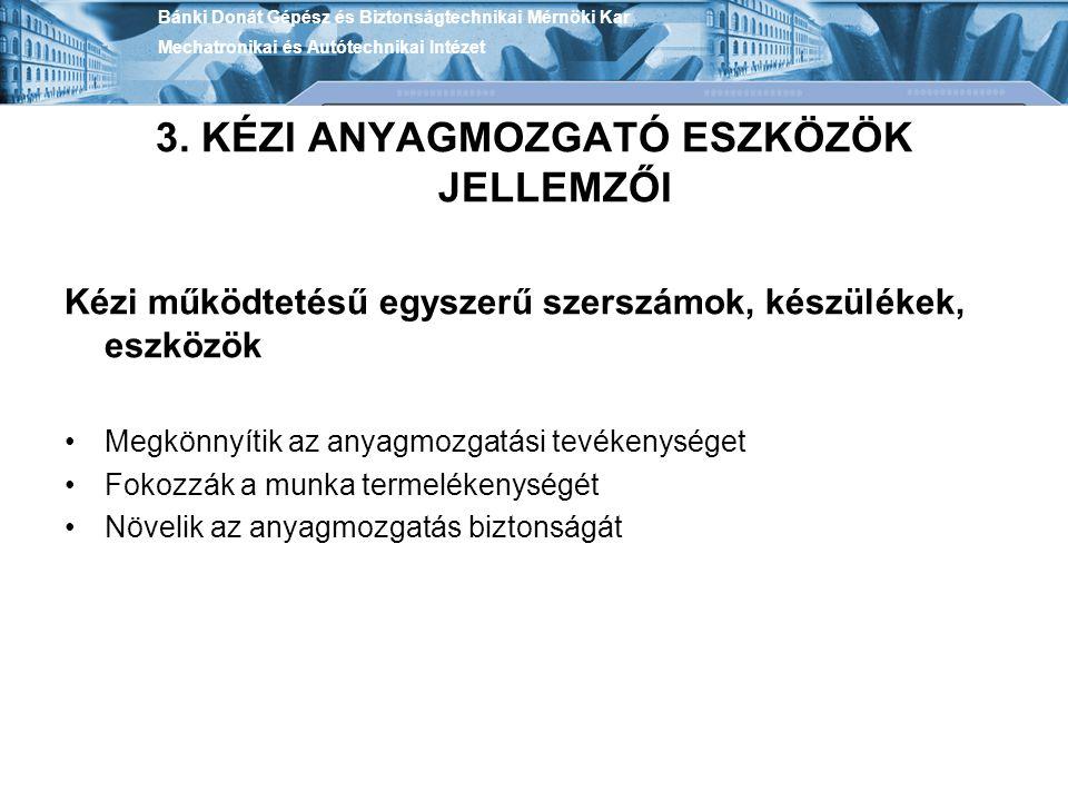 Bánki Donát Gépész és Biztonságtechnikai Mérnöki Kar Mechatronikai és Autótechnikai Intézet 3.