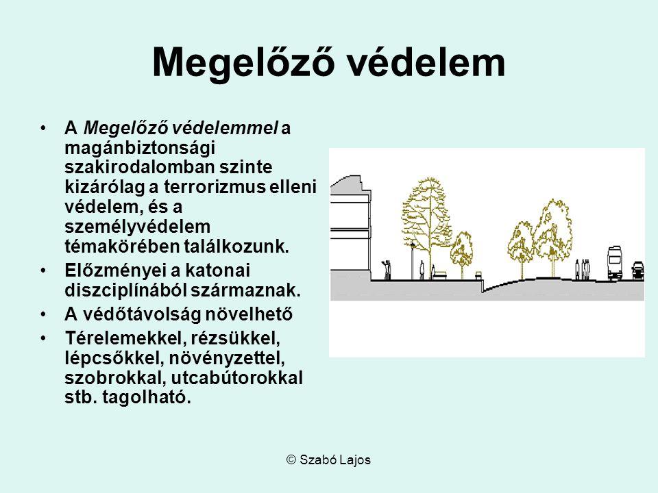 © Szabó Lajos Megelőző védelem A Megelőző védelemmel a magánbiztonsági szakirodalomban szinte kizárólag a terrorizmus elleni védelem, és a személyvéde