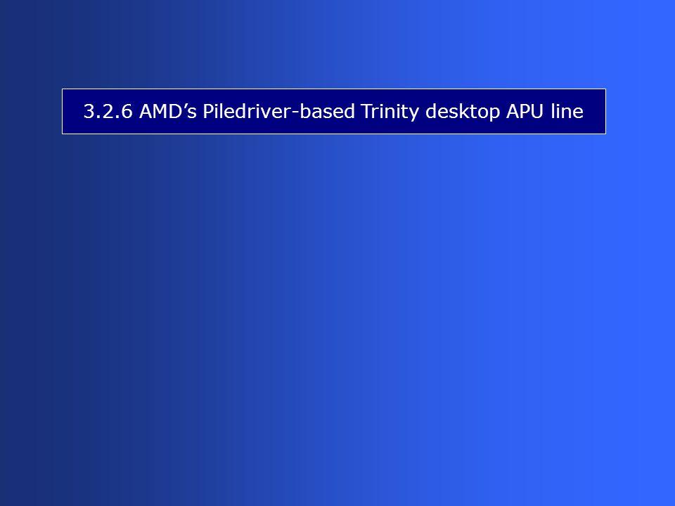 3.2.6 AMD's Piledriver-based Trinity desktop APU line