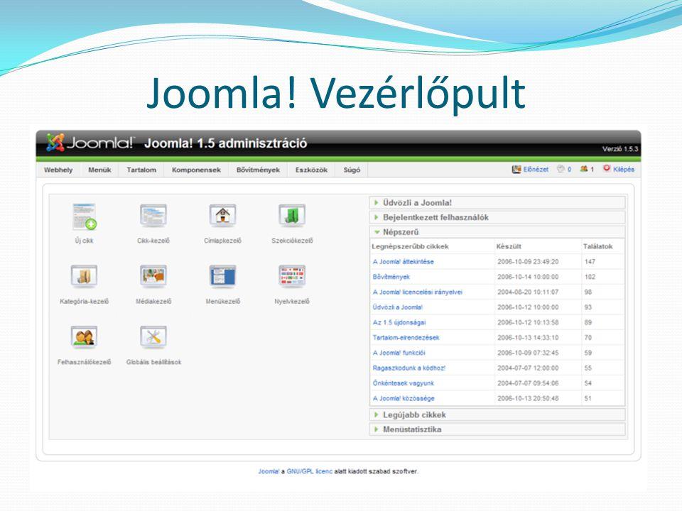 Joomla! Vezérlőpult