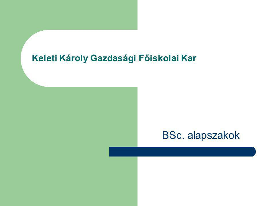 Keleti Károly Gazdasági Főiskolai Kar BSc. alapszakok