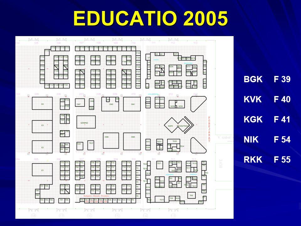 EDUCATIO 2005 BGKF 39 KVKF 40 KGKF 41 NIKF 54 RKKF 55