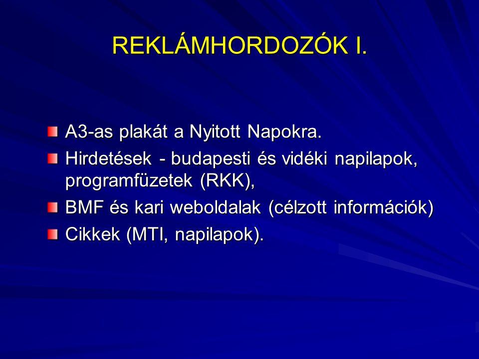 REKLÁMHORDOZÓK I. A3-as plakát a Nyitott Napokra.