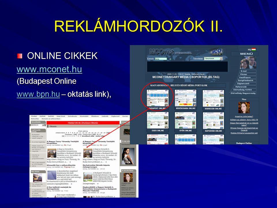 REKLÁMHORDOZÓK II.