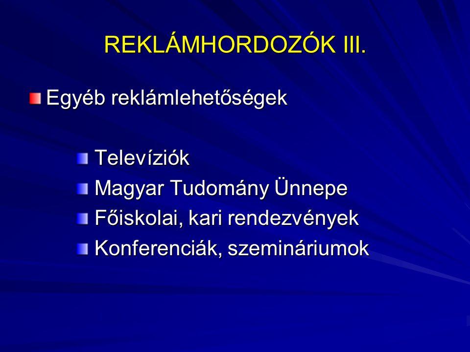 REKLÁMHORDOZÓK III.