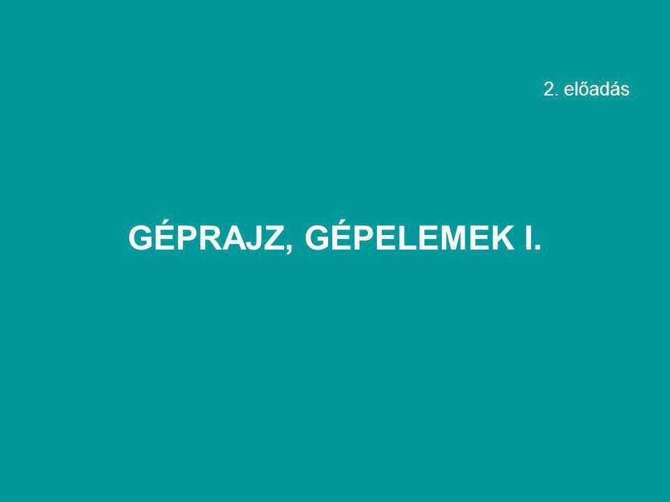 2. előadás GÉPRAJZ, GÉPELEMEK I.