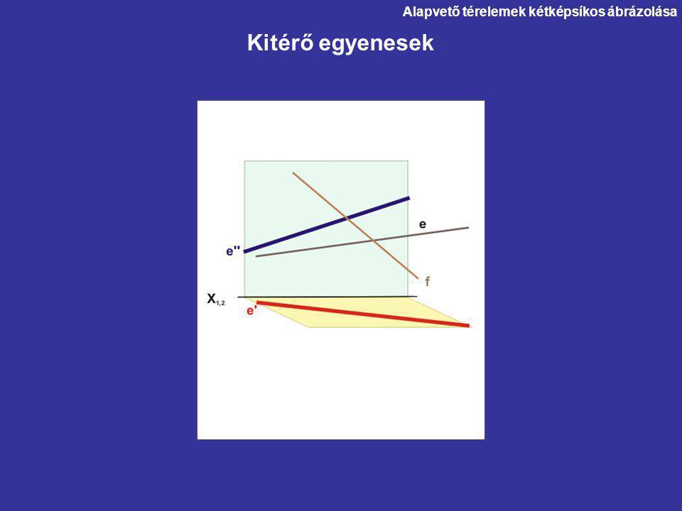 Kitérő egyenesek Alapvető térelemek kétképsíkos ábrázolása