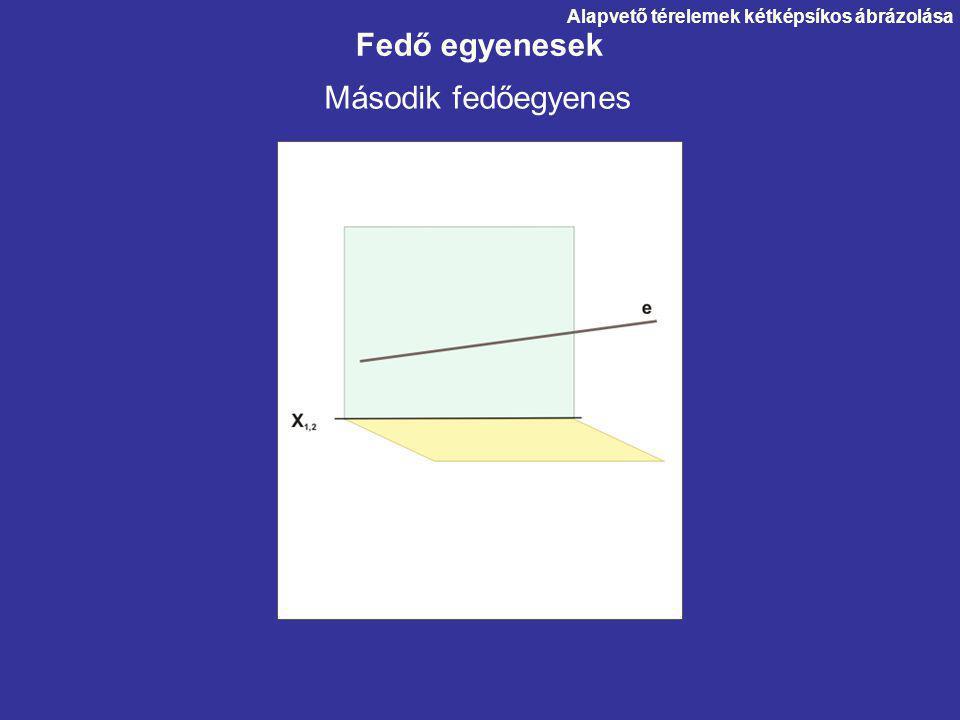 Fedő egyenesek Második fedőegyenes Alapvető térelemek kétképsíkos ábrázolása