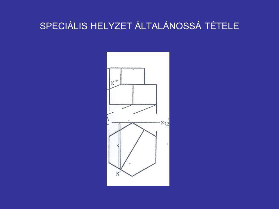 SPECIÁLIS HELYZET ÁLTALÁNOSSÁ TÉTELE