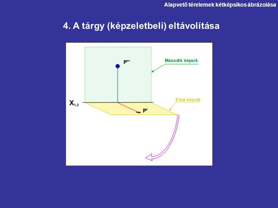 4. A tárgy (képzeletbeli) eltávolítása Alapvető térelemek kétképsíkos ábrázolása