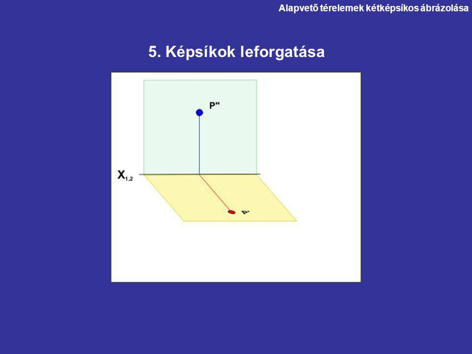 Alapvető térelemek kétképsíkos ábrázolása 5. Képsíkok leforgatása