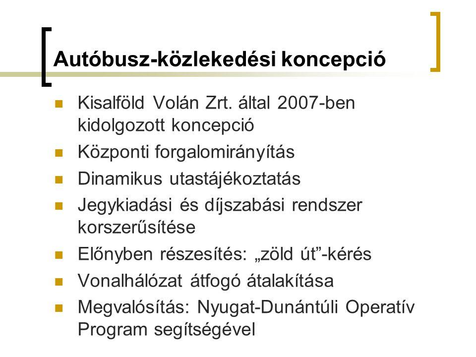 Autóbusz-közlekedési koncepció Kisalföld Volán Zrt.