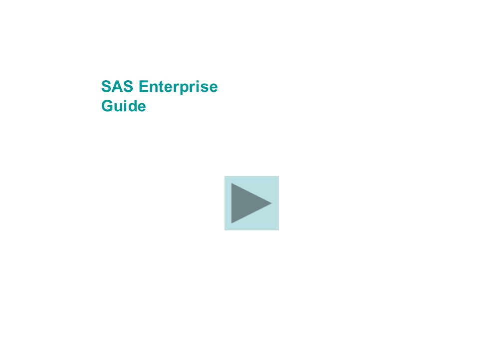 SAS Enterprise Guide
