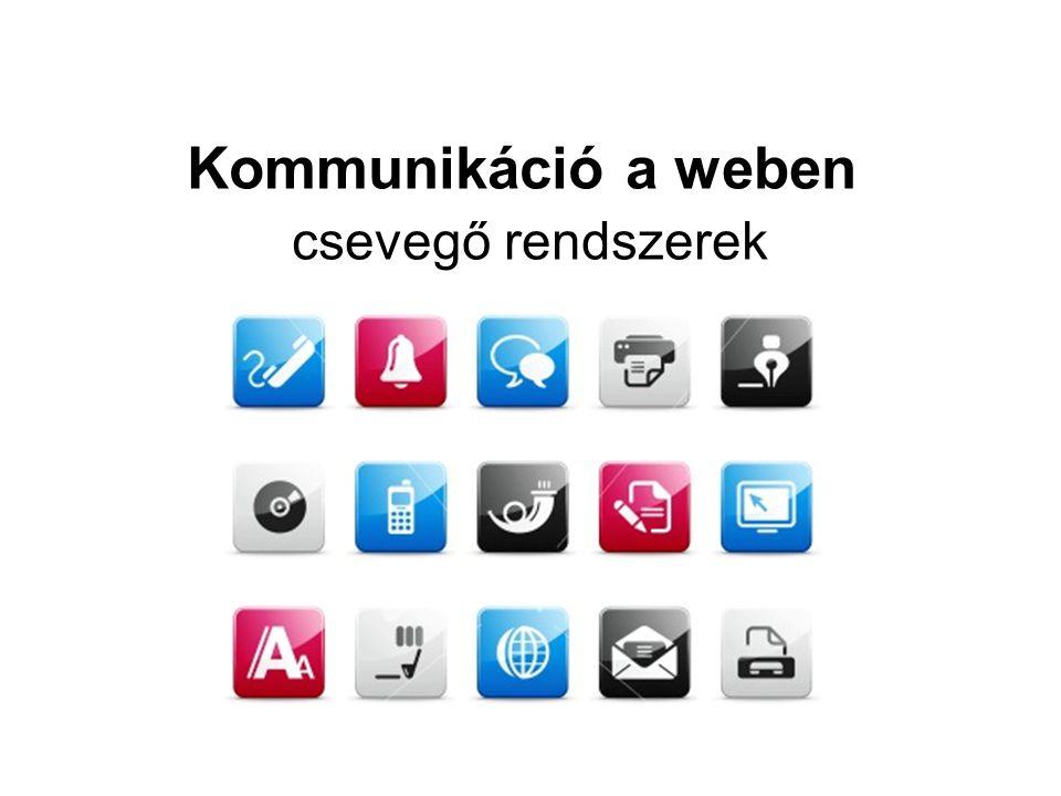 Kommunikáció a weben csevegő rendszerek