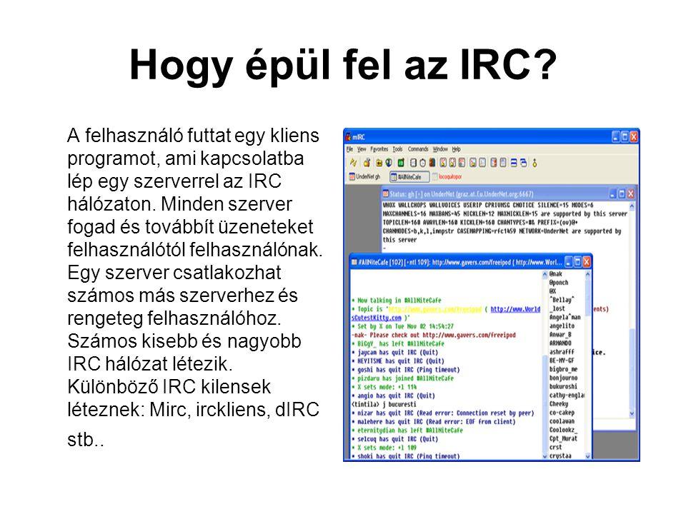 Hogy épül fel az IRC.