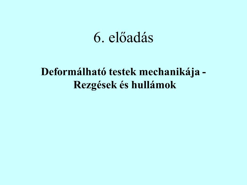 6. előadás Deformálható testek mechanikája - Rezgések és hullámok