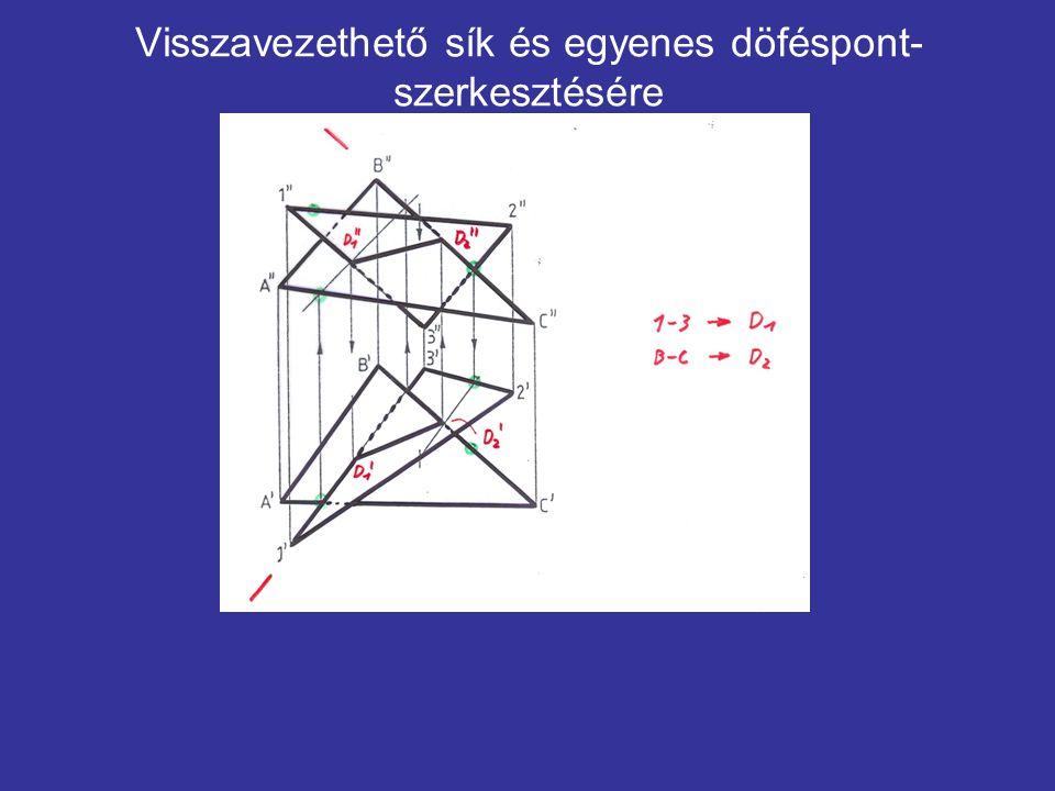 Visszavezethető sík és egyenes döféspont- szerkesztésére