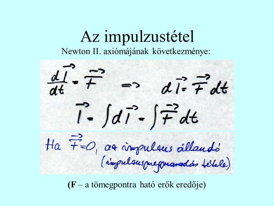 Az impulzustétel Newton II. axiómájának következménye: (F – a tömegpontra ható erők eredője)