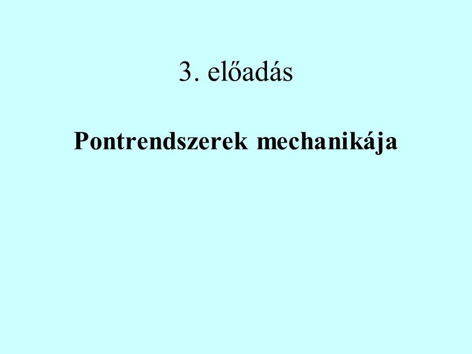 3. előadás Pontrendszerek mechanikája