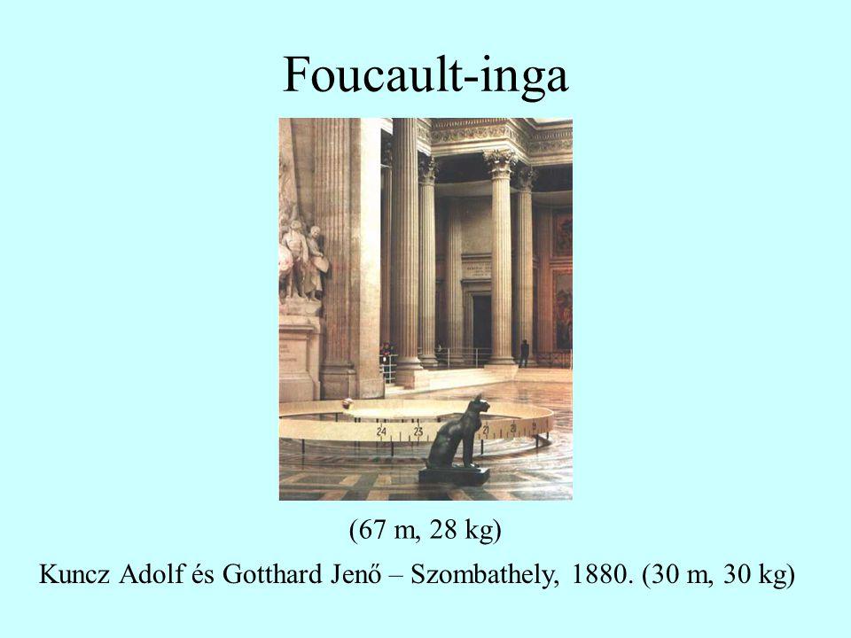 Foucault-inga Kuncz Adolf és Gotthard Jenő – Szombathely, 1880. (30 m, 30 kg) (67 m, 28 kg)