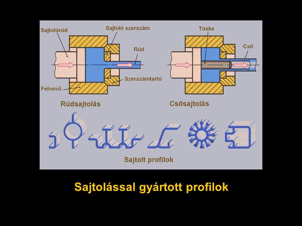 Sajtolással gyártott profilok