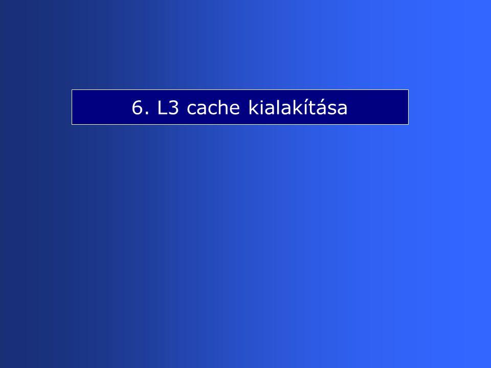 6. L3 cache kialakítása