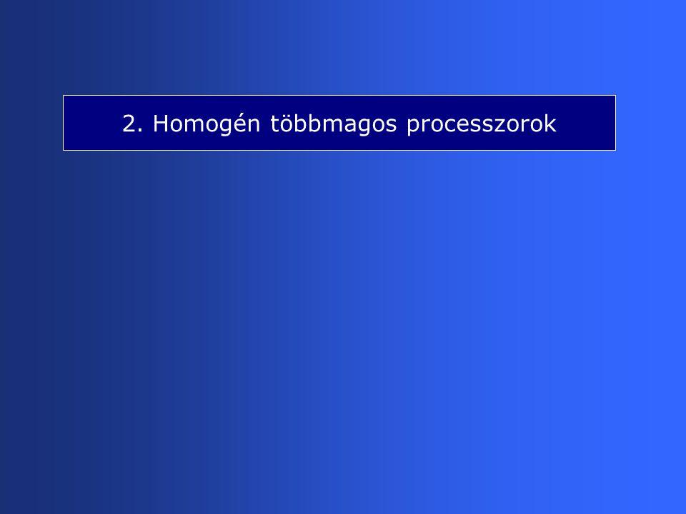 2. Homogén többmagos processzorok