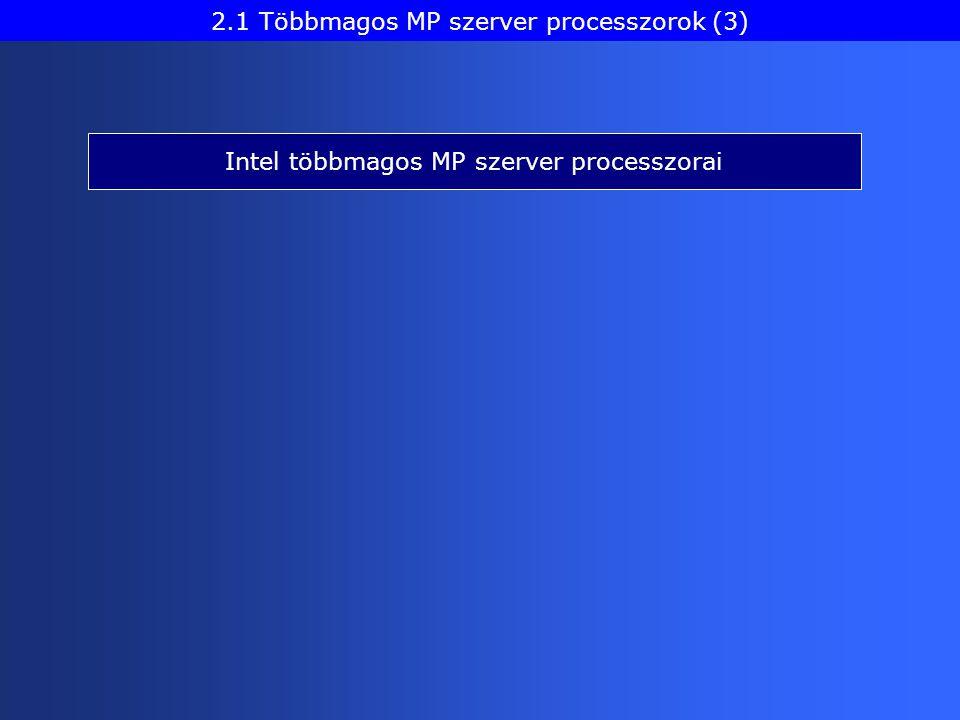 Intel többmagos MP szerver processzorai 2.1 Többmagos MP szerver processzorok (3)