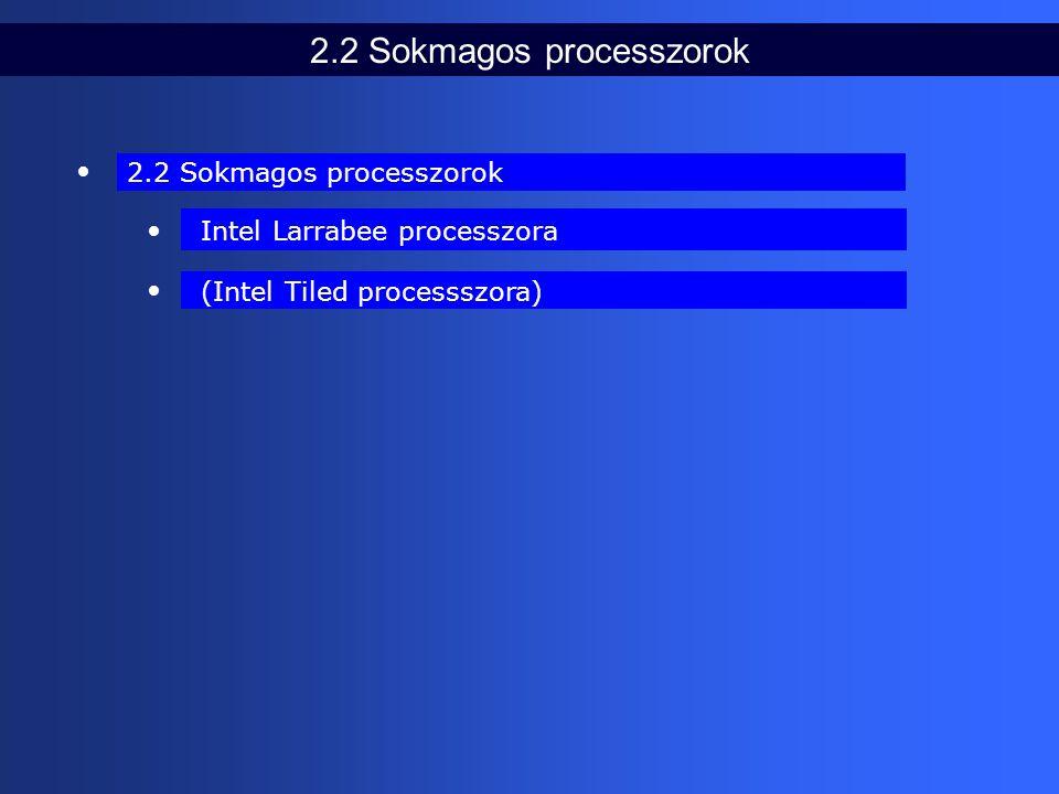 2.2 Sokmagos processzorok (Intel Tiled processszora) Intel Larrabee processzora