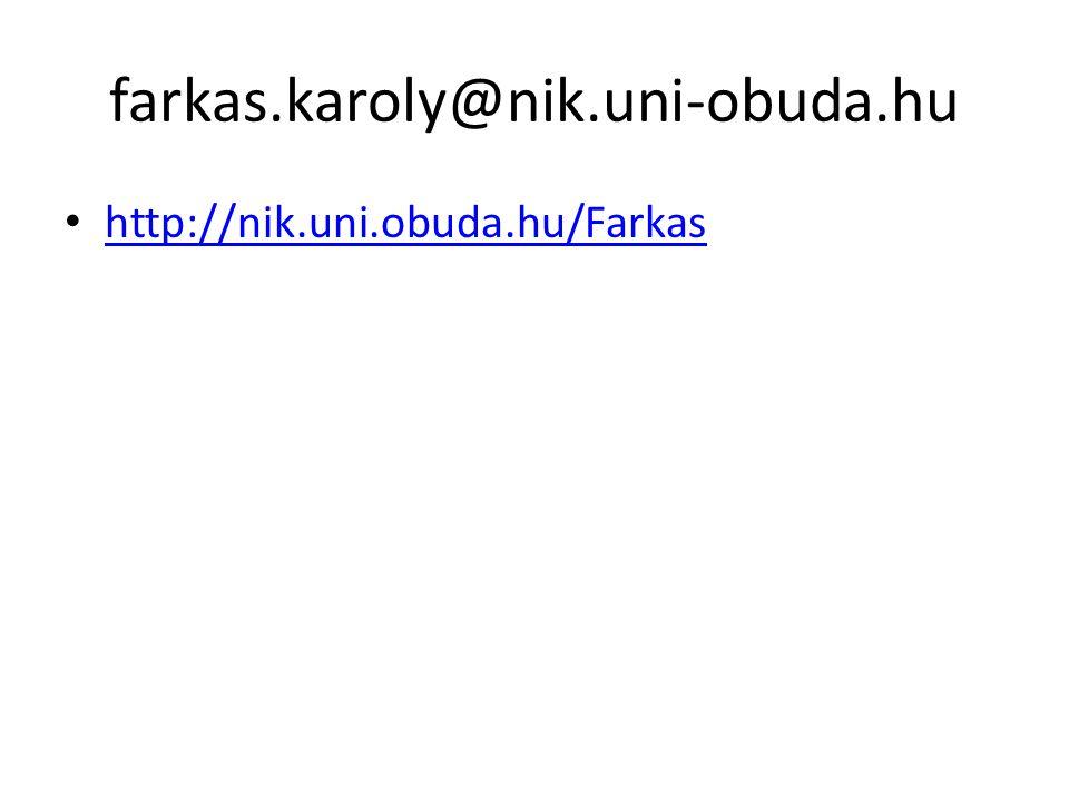 farkas.karoly@nik.uni-obuda.hu http://nik.uni.obuda.hu/Farkas