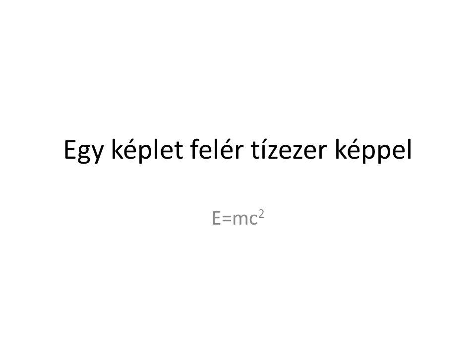 Egy képlet felér tízezer képpel E=mc 2