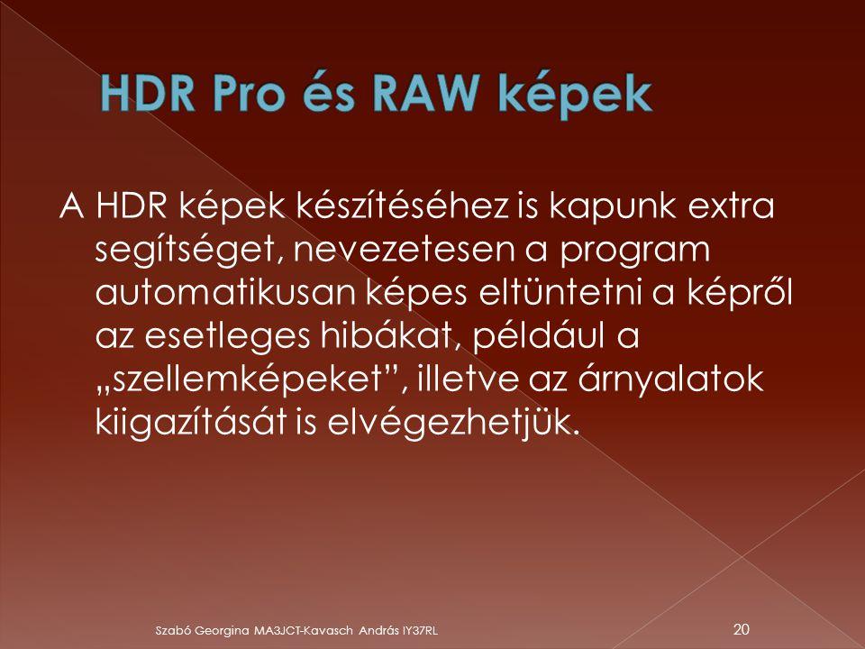 """A HDR képek készítéséhez is kapunk extra segítséget, nevezetesen a program automatikusan képes eltüntetni a képről az esetleges hibákat, például a """"sz"""