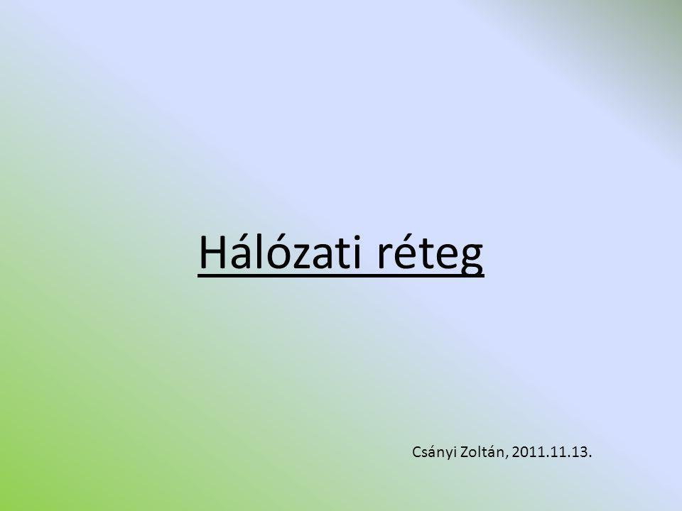 Hálózati réteg Csányi Zoltán, 2011.11.13.
