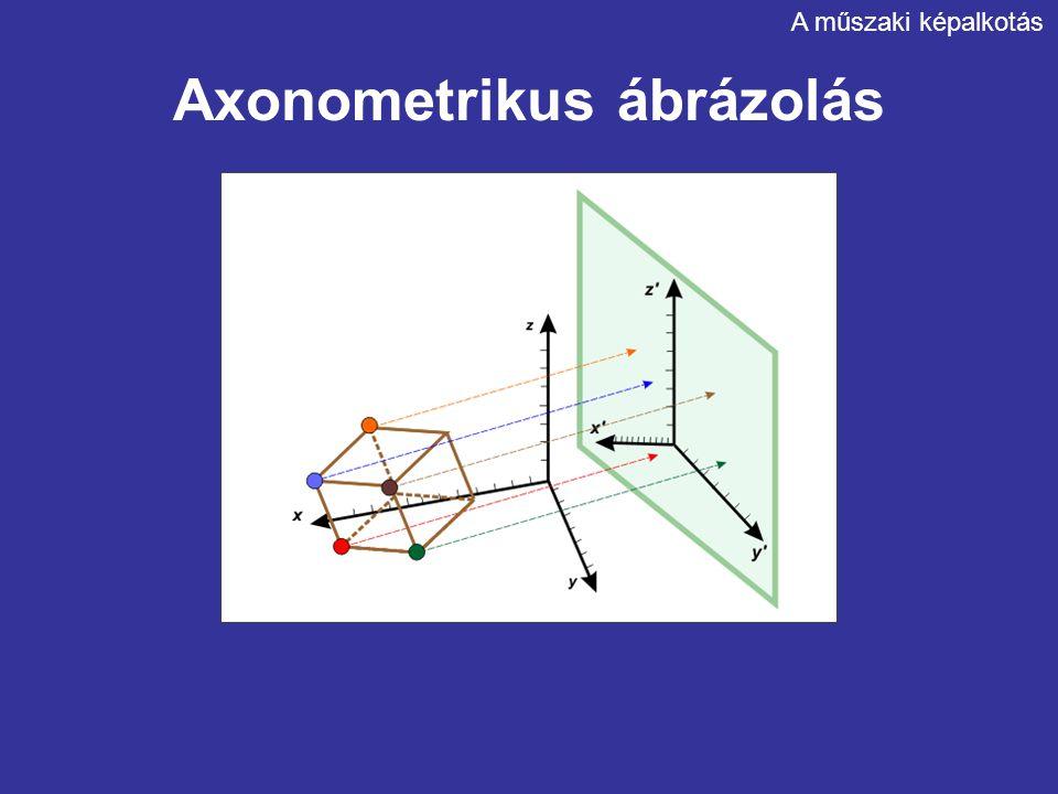 Axonometrikus ábrázolás A műszaki képalkotás