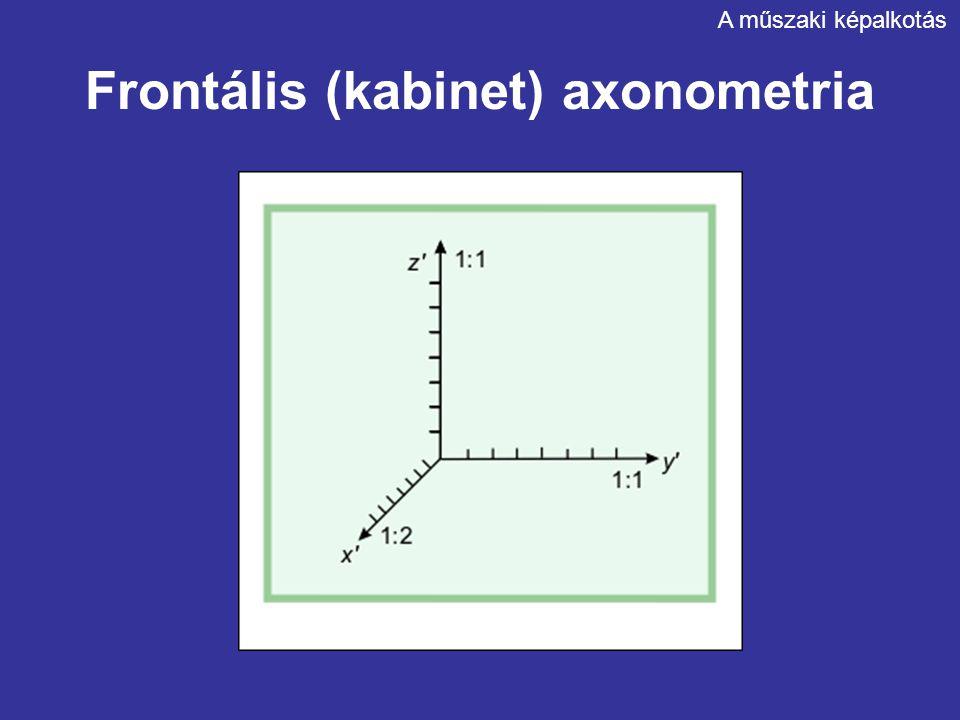 Frontális (kabinet) axonometria A műszaki képalkotás