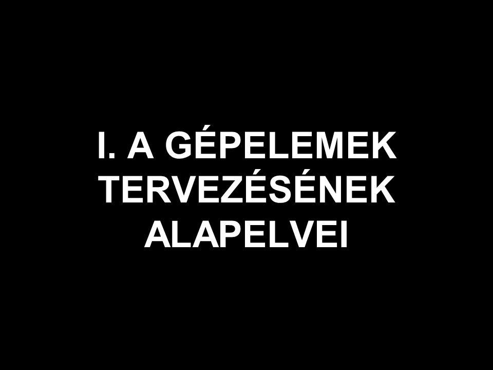 I. A GÉPELEMEK TERVEZÉSÉNEK ALAPELVEI
