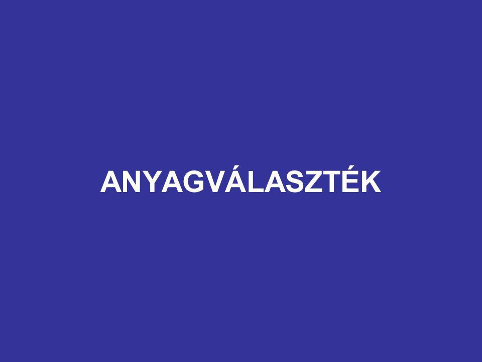 ANYAGVÁLASZTÉK