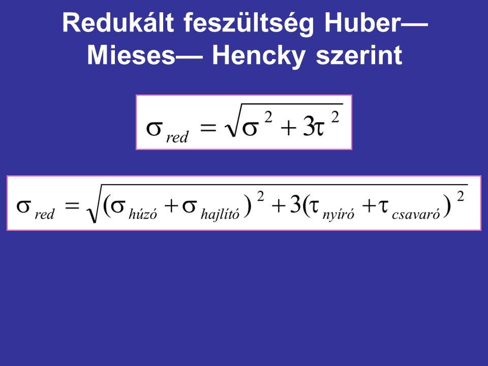 Redukált feszültség Huber— Mieses— Hencky szerint