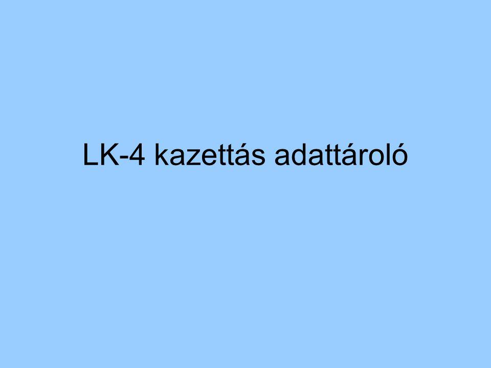 LK-4 kazettás adattároló