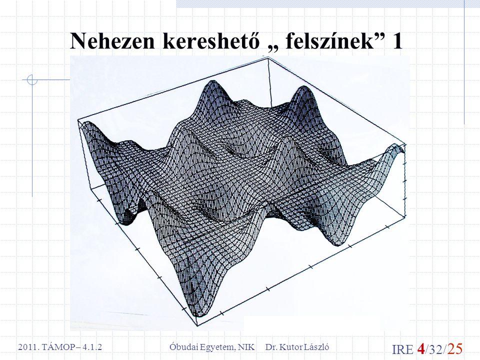 IRE 4 /32/ 25 Óbudai Egyetem, NIK Dr. Kutor László2011.
